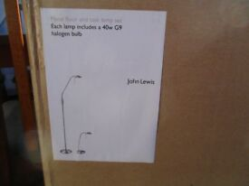 John Lewis floor side lamp set