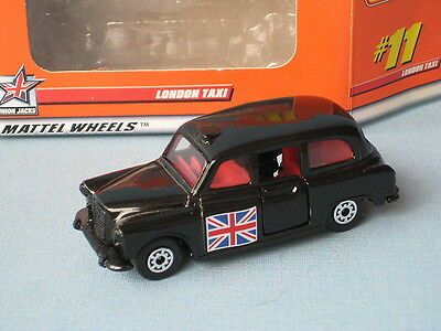 Matchbox FX4R London Taxi with Flag on Both Sides Toy Model Car Boxed
