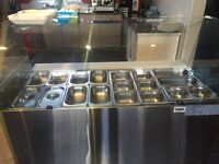 A year old ggm gastro display fridge with 17 mix pans. It's in excellent condition. I have 2.