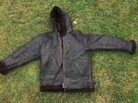 Big fur leather coat heavy duty (fashion)