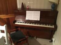 Piano - upright - John Broadwood G5 - stool included.