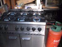 Parry 6 burner cooker & oven Range P6BOp, propane gas/LPG.