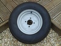 spare wheel of a sunncamp trailer tent brand new