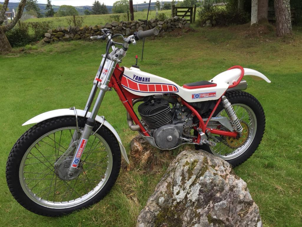 yamaha ty250 majesty trials bike in beauly highland. Black Bedroom Furniture Sets. Home Design Ideas