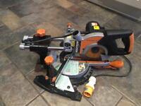 Evolution RAGE3-S+ Multi-Purpose Sliding Mitre Saw 110v