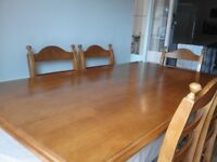 Teak Dining room Table & 6 Chairs