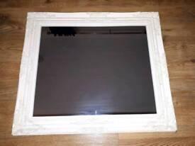 Cream wall mirror 74×64cm