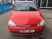 Vauxhall Corsa 1.0 i 12v Comfort 5dr£350 LOW MILEAGE, LONG MOT, Hatchback, CHEAP INSURANCE AVAILABLE