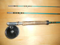 Canne et moulinet a mouche, Fly fishing rod and reel