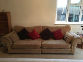 4 Seater Sofa and 2 matching Chairs