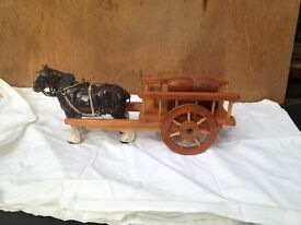ornamental horse and cart
