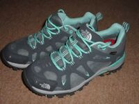 Ladies North Face waterproof walking shoes size small 4.5