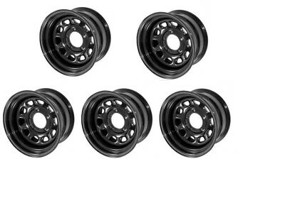 Black Steel Wheel 15X10 5x4.5 for  Jeep Wrangler TJ YJ 87-06 Set Of 5 15500.02