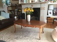Ornate coffee table for sale - perfect up cycling project