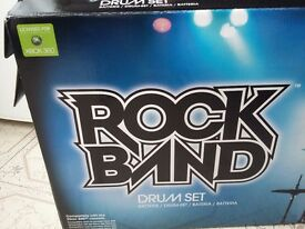 Xbox 360 rock band drums and warriors of rock guitar