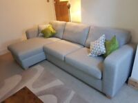 LYDIA - Left Hand Facing Chaise End 3-Seater Sofa with Storage & Large Swivel Chair