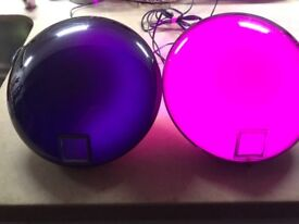 Bedside lamps-low voltage colour changing-price for the pair