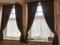 2 sets of blackout curtains