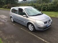 2005 RENAULT GRAND SCENIC 7 SEATER MOT apr 2018 LOW MILES DRIVES GOOD CHEAP CAR READ AD