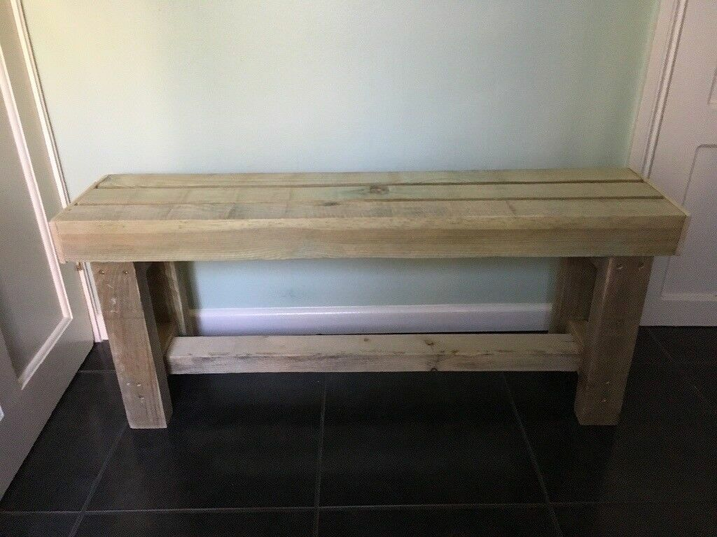 New Handmade Solid Wood Garden Bench In Withywood