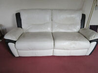 3 SEATER RECLINER LEATHER SETTEE