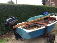 sail boat with outboard 10ft with trailer full set up