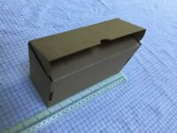 Brown Die Cut Small Postal Cardboard Boxes -Food Grade 19.5cm w x 8cm h x 11.5cm d