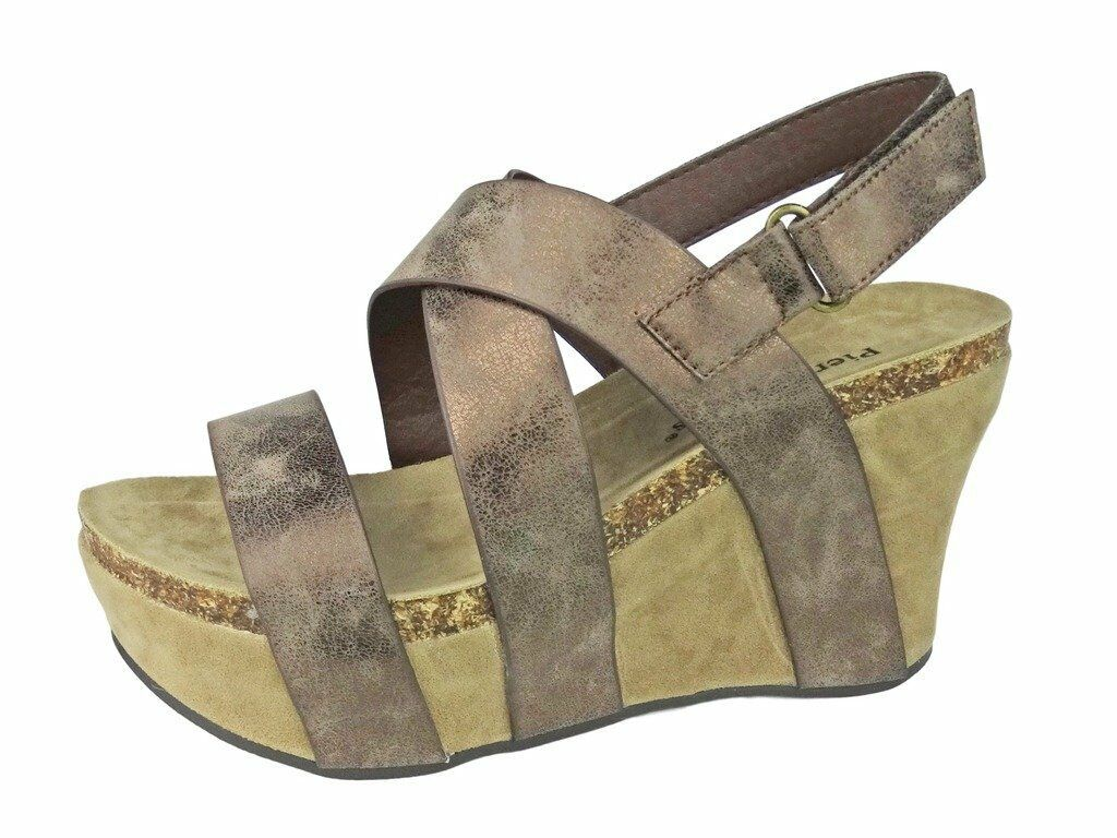 Womens Vegan Leather Strappy Adjustable Ankle Strap Wedge Sandal Hester-5