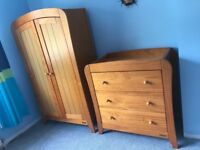 Mamas & Papas Fern Wardrobe & Dresser/Changing Table
