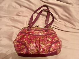 Beautiful 'carpet bag' vintage style plum and floral