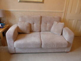 LARGE 2 SEATER DFS SOFABED VIRUALLY NEW USED TWICE COLLECTION ONLY FIRE LABELLED