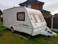 4/5 BERTH CARAVAN BAILEY DISCOVERY WITCH FULL SIZE AWNING AND EQUIPMENT