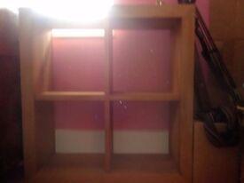 Solid oak shelves