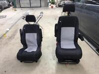 Volkswagen passenger and driver seat