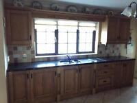 Sold sold sold Oak kitchen with black granite worktop