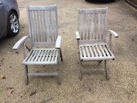 6 teak Patio Chairs and Table set