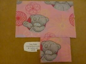 Tatty Teddy cot bed duvet and pillow case