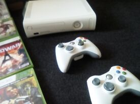 Xbox360+2wireless controls+24 games all working perfectly