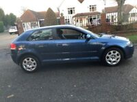 2004 AUDI A3 SPECIAL EDITION 3 DOOR HATCHBACK, 1600CC ENGINE, LONG MOT. TAXED ONLINE.