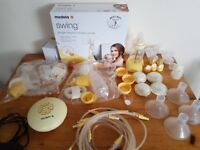 Medela Swing breast pump + accessories for sale
