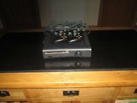 XBOX 360 WITH 2 CONTROLLERS FOR SALE (GAMES ALSO AVAILABLE £5 EACH). PERFECT WORKING ORDER.