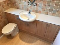 Toilet, wash basin and vanity unit - excellent condition £25.00