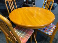 Table and chairs x 4