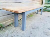 Large Solid Oak Farmhouse Kitchen Dining Bench