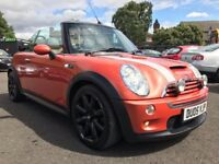 2005 MINI COOPER S CONVERTIBLE ** ONLY 93000 MILES + 9 MONTHS MOT + FULL SERVICE HISTORY **