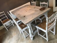 French Antique Dining Table, seats 6-10.