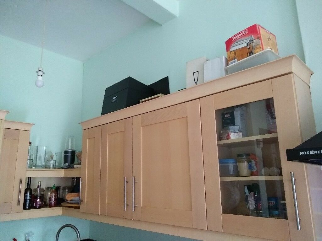 Kitchen units, worksurface, fridge | in Meadows, Edinburgh | Gumtree