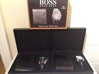 Hugo Boss watch and wallet set