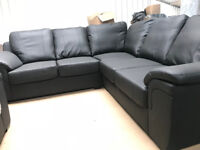 Amy Faux Leather Corner Sofa (Brand New, Free Delivery)