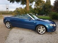 A4 convertible low mileage